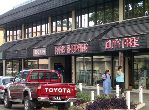 Duty free store in Port Vila