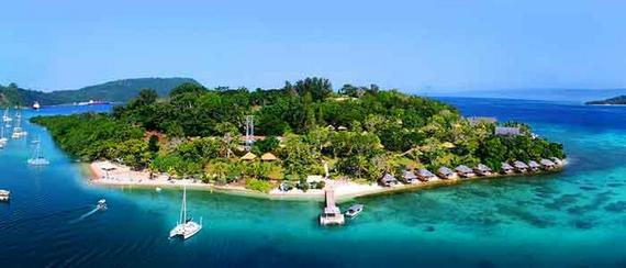 Iririki island resort in Port Vila harbour, Vanuatu