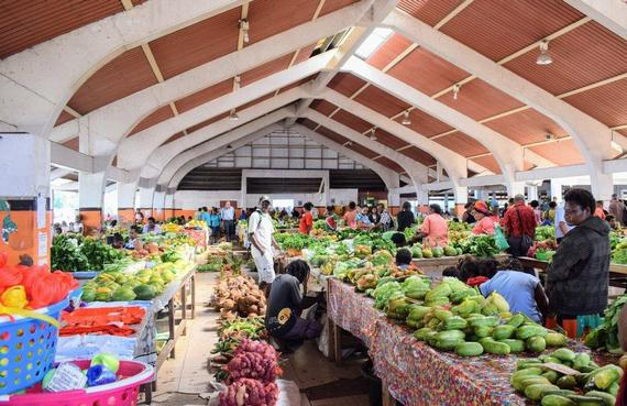 Fruit and vegies section at Port Vila Market