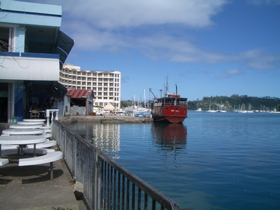 Grand Hotel in Port Vila harbour