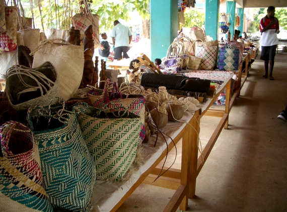 Handmade crafts at Port Vila markets