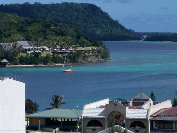 Iririki resort in Port Vila harbour or Iririki island