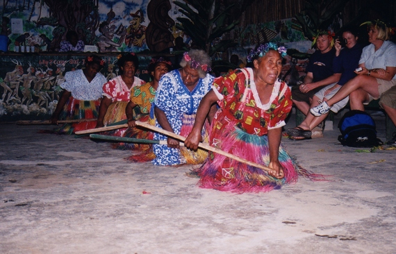Performers at Melanesian Feast Night