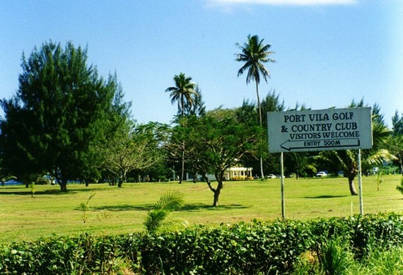 Entrance sign at Port Vila Golf Club