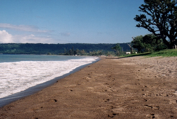 Beach adjacent to Mele Village