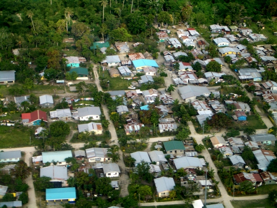 An aerial view of Mele Village